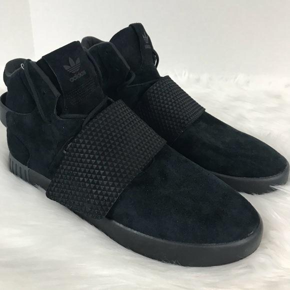 brand new 05dde ccbac Strap Adidas Tubular Black 10 Size Suede Triple Rz0B1q
